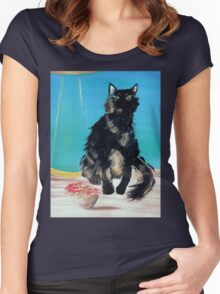 Portrait of Muffin Women's Fitted Scoop T-Shirt