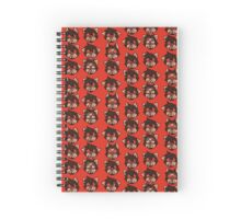 Red the akita: expressions Spiral Notebook