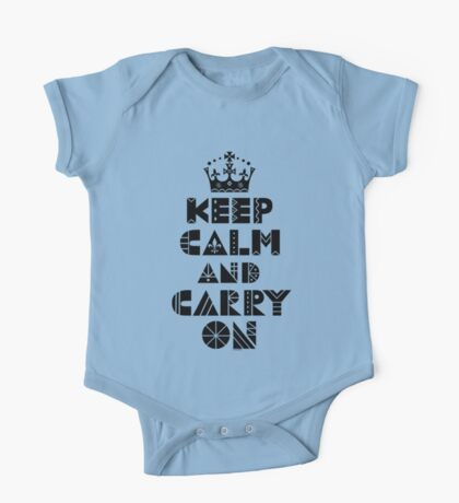 Keep Calm Carry On - black Kids Clothes