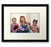 Smiling Children Framed Print