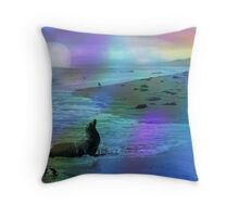 Life Along The California Coast Throw Pillow