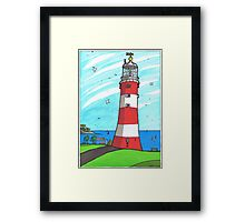 Plymouth Hoe Lighthouse Framed Print
