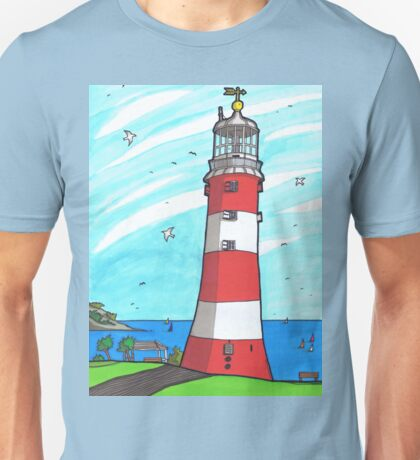 Plymouth Hoe Lighthouse Unisex T-Shirt