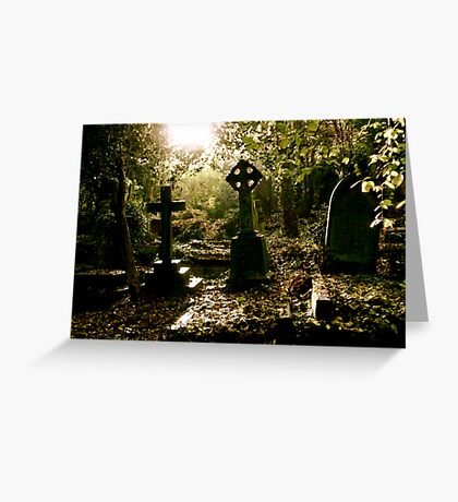 Tombstones in Highgate Cemetery (West) Greeting Card