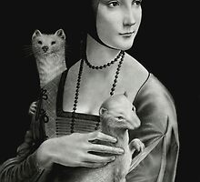 Lady With Two Ermines by Wieslaw Borkowski
