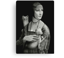 Lady With Two Ermines Canvas Print