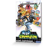 Kid Chameleon Mega Drive Cover Greeting Card