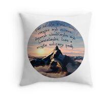 A Single Solitary Peak Throw Pillow