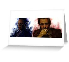 True Detective s2 - Ray Velcoro and Frank Semyon Greeting Card