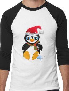I love my Santa hat! Men's Baseball ¾ T-Shirt