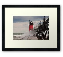 South Haven, Michigan Lighthouse-1  Framed Print