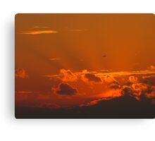Shining September Sunset Canvas Print