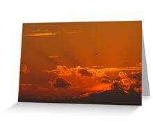 Shining September Sunset Greeting Card