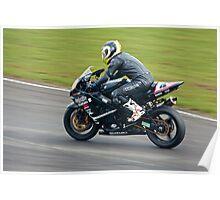 Suzuki GSXR track bike Poster