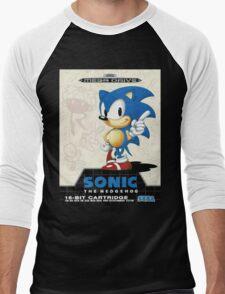 Sonic the Hedgehog Mega Drive Cover Men's Baseball ¾ T-Shirt