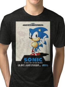 Sonic the Hedgehog Mega Drive Cover Tri-blend T-Shirt
