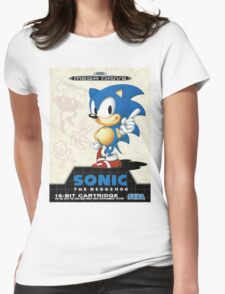 Sonic the Hedgehog Mega Drive Cover Womens Fitted T-Shirt