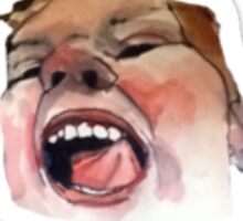 Portrait of a Crazy  Sticker