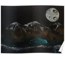 Moonlit medleys and mountains Poster