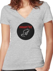 Mouse Rat Women's Fitted V-Neck T-Shirt