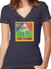 100 Years... Women's Fitted V-Neck T-Shirt