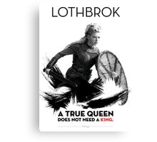 Awesome Series - Lagherta Lothbrok  Canvas Print