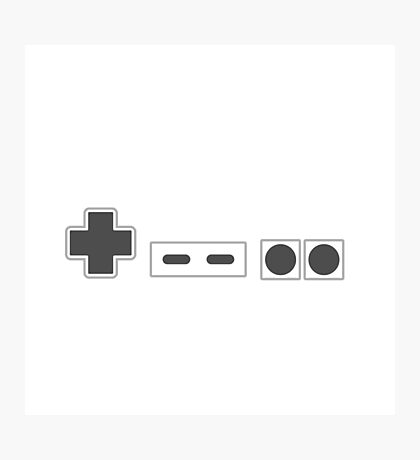 NES Controller Buttons - Dark Photographic Print