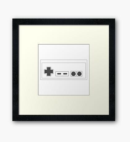 NES Controller - Dark Framed Print