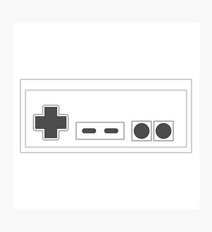 NES Controller - Dark Photographic Print
