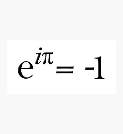 Euler is cool Photographic Print