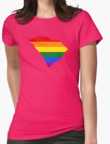 LGBT Flag of South Carolina  Womens Fitted T-Shirt