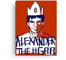 Alexander the GR8 Canvas Print