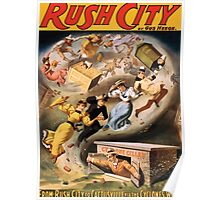 Poster 1890s From Rush City to Cactusville via the cyclone's wave performing arts poster 1894 Poster