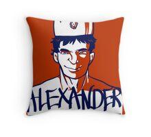 Alexander the GR8 Throw Pillow