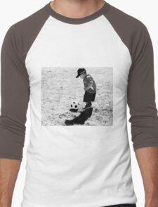 A  Boy And  Soccer Ball Men's Baseball ¾ T-Shirt