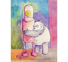 Panda Loves Robot, Robot Feels Nothing Photographic Print