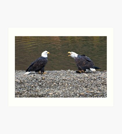 Kodiak Eagles Art Print