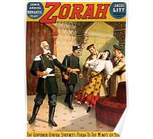 Poster 1890s The governor general sentences Zorah to the mines of Siberia Broadway poster 1899 Poster