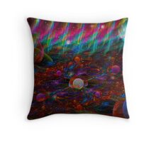 Aurora & Bubbles Throw Pillow