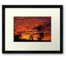 Sunset over Rural Australia. Framed Print