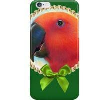 Red female eclectus parrot realistic painting iPhone Case/Skin
