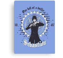 Sebastion - Black Butler  Canvas Print