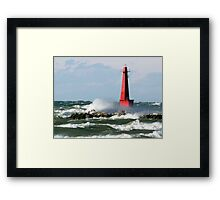 The Churning Lake Michigan Framed Print