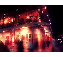 the night covered itself in red lace Photographic Print