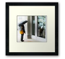 the sky was frozen steel but the sun still found a way to glow Framed Print