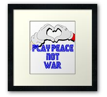 Play Peace  Framed Print