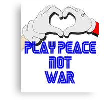 Play Peace  Canvas Print