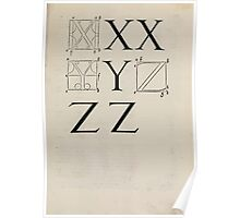 Measurement With Compass Line Leveling Albrecht Dürer or Durer 1525 0135 Alphabet Letters Calligraphy Font Poster