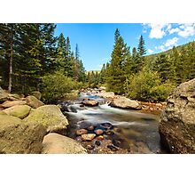 Mountain Stream Colorado Photographic Print