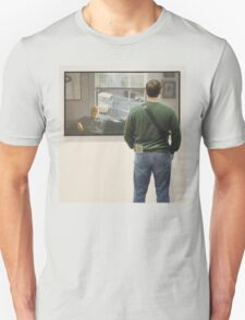 PEOPLE AT AN EXHIBITION 0062 Unisex T-Shirt